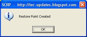 Single Click Restore Point