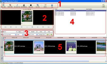 Вікно Photostage Slideshow